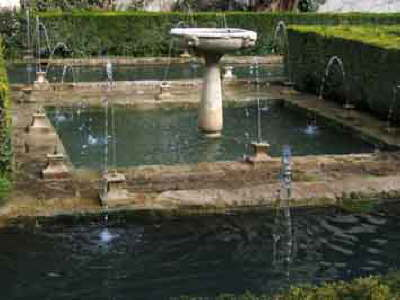 Generalife, fountains