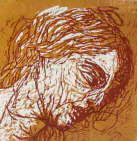 After Titian I. Woodcut, 2002.
