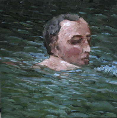 Head I. Oil on canvas, 2005.